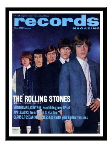 Iposters Rolling Stones Record Magazine Cover Print June 1964 Black Framed - 41 X 31 Cms (approx 16 X 12 Inches)