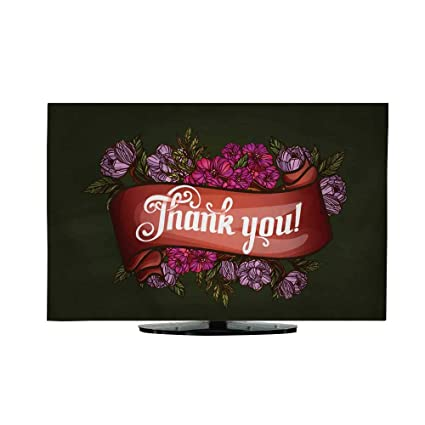 amazon com tv cover thank you lettering decorated with flowers