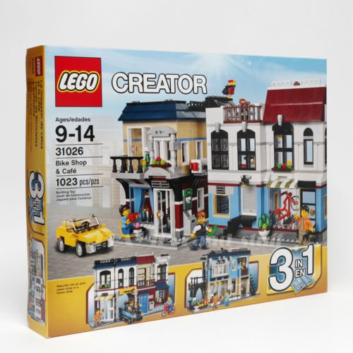 2016 Collection-LEGO Creator 31026 Building Set Bike Shop and Cafe Toy New Sealed MINT 3 in 1