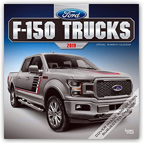 Ford F150 Trucks 2019 12 x 12 Inch Monthly Square Wall Calendar, Automotive Manufacturer F-Series