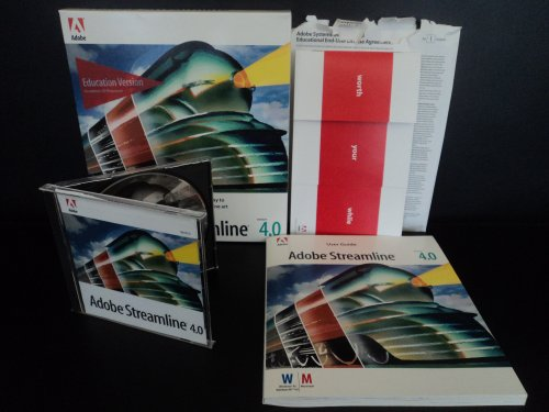 (Adobe Streamline 4.0 Macintosh Education Version Software with Serial Number and User Guide In Box)