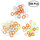 Healifty 300pcs Stitch Markers Plastic Knitting Markers Rings Smooth Crochet Stitch Marker Ring Assorted Knitting Counters Needle Clip (Random Color)