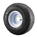 18.5X8.5-8 Loadstar Trailer Tire LRC on 4 Bolt White Wheel