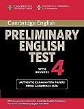 Cambridge Preliminary English Test 4, Cambridge Esol, 052175528X