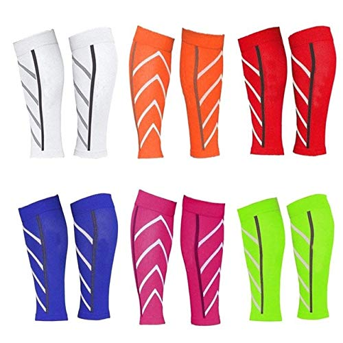 FairOnly Pair Calf Support Graduated Compression Leg Sleeve Sports Socks Outdoor Exercise Show