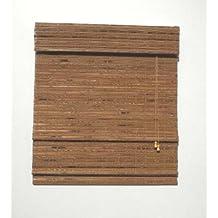 Lewis Hyman 0215448 Havana Bamboo Roman Shade, 48-Inch Wide by 64-Inch Long, Pecan