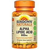 Sundown Naturals Super Alpha Lipoic Acid, 600mg, Capsules 60 ea For Sale