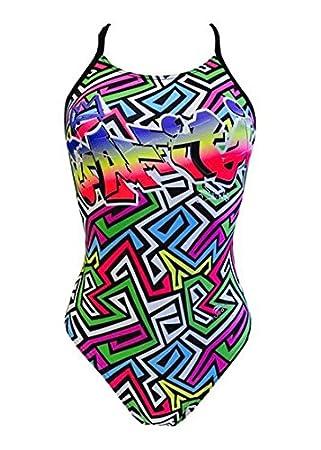 Bañador de Natación Mujer Turbo Greka Pro Racer Tirante Negro Fino Competición o Entrenamiento (XL): Amazon.es: Deportes y aire libre