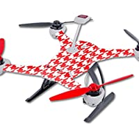 Skin For Blade 350 QX3 Drone – Red Houndstooth | MightySkins Protective, Durable, and Unique Vinyl Decal wrap cover | Easy To Apply, Remove, and Change Styles | Made in the USA