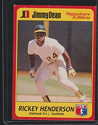 1991 Jimmy Dean Rickey Henderson As Baseball Card 17 At