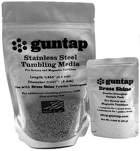 Stainless Steel Tumbling Media Pins - 0.047'' Diameter, 0.255'' Length (2 lb Pack) by guntap
