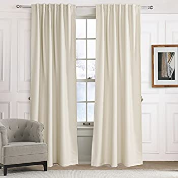 Blackout Curtains Solid Beige Off White Light Yellow Drapes Anady Insulated