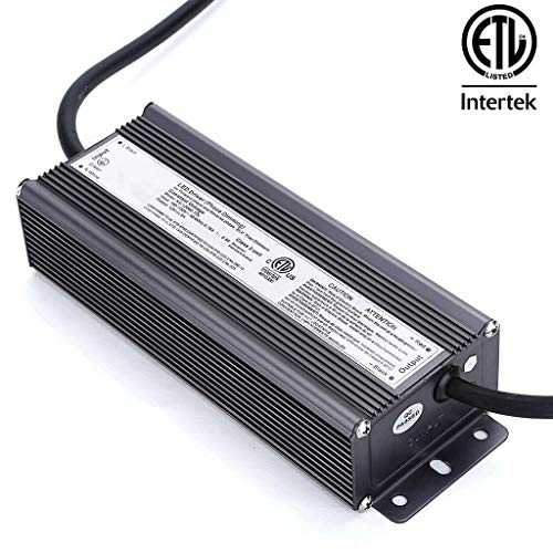 CATIYA 12V 60W Triac Dimmable LED Driver, ETL Listed Class 2 Unit Constant Voltage Transformer, Universal LED Dimmers Compatible with Lutron, Leviton, ABB.