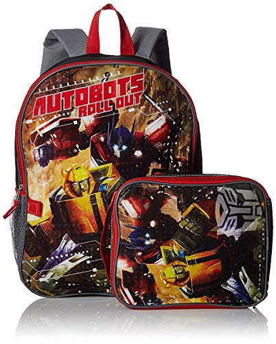 Transformers Boys Backpack with Lunch Kit, - Lunch Transformers Insulated