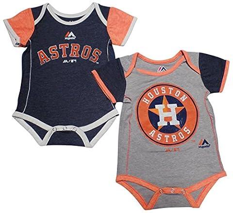 Houston Astros Baby / Infant 2 Piece Creeper Set 18 Months (Houston Astros Baby Set)