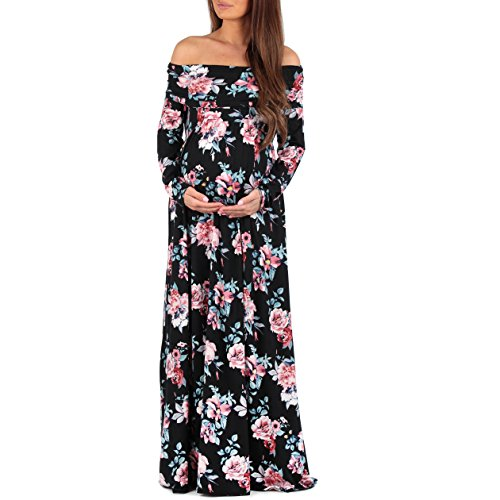 Women's Cowl Neck and Over The Shoulder Ruched Maternity and Nursing Dress by.