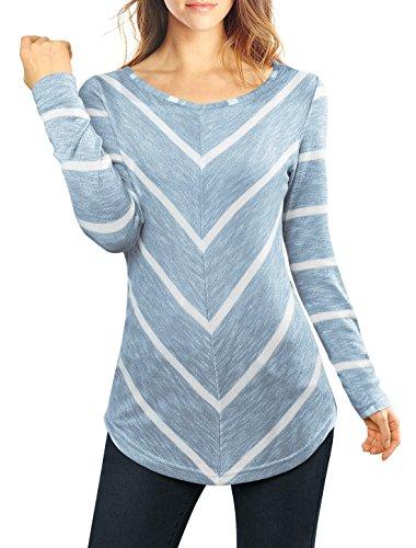 allegra-k-women-long-sleeves-striped-chevron-print-tunic-top-s-blue