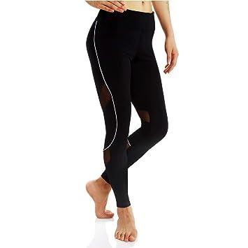 Pantalones De Yoga De Fitness para Mujeres Malla Elástica ...