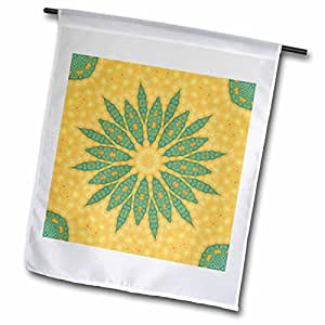 Houk Digital Abstraction Art - Fancy Kaleidoscopes - Mystic Flower Gift Mandala - 18 x 27 inch Garden Flag (fl_42498_2)