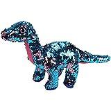 Gitzy Flip Sequin Stuffed Dinosaur Plush Toy Sparkle Stegosaurus with Reversible Glitter Sequins Interactive Gifts for Kids Friends 16.5/'/' Orange//Green
