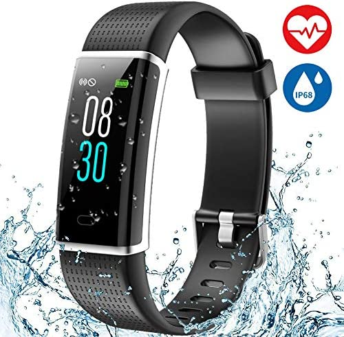Fitness Tracker Heart Rate Monitor Watch Aneken Activity Tracker with Color Screen IP68 Waterproof Smart Watch Sleep Monitor 14 Sports Mode Pedometer Watch for Kids Women and Men