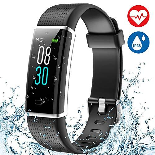 Aneken Fitness Tracker Heart Rate Monitor Watch Activity Tracker with Color Screen IP68 Waterproof Smart Watch Sleep Monitor 14 Sports Mode Pedometer Watch for Kids Women and Men (Black) – DiZiSports Store