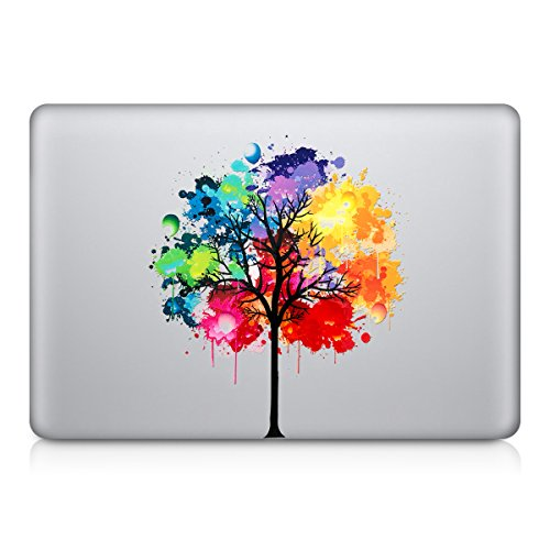 kwmobile Design rainbow tree Decal sticker for Apple MacBook