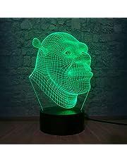 Shrek 3D LED Nachtlampje Touch-Lamp Nachtlampje Nachtlampje Nachtlampje Bureaulamp Leeslamp Movie Fans Room Decoratie Kinderen Nachtverhaal Licht