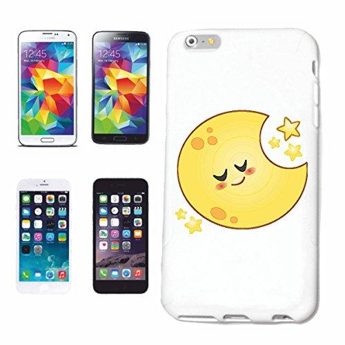 """cas de téléphone iPhone 6 """"SLEEPING sourire de EMOTICON de SMILEY """"SMILEYS SMILIES ANDROID IPHONE EMOTICONS IOS APP"""" Hard Case Cover Téléphone Covers Smart Cover pour Apple iPhone en blanc"""