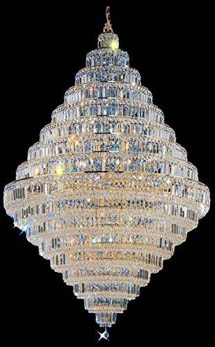 Classic Lighting 1606 G S Ambassador, Crystal, Chandelier, 24k Gold Plate