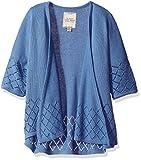 Lucky Brand Little Girls' Fashion Cardigan, Ashley Colony Blue, 6X