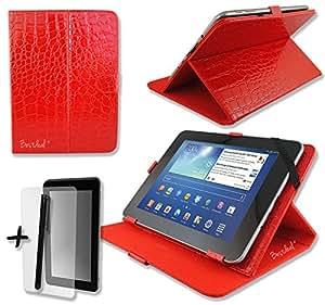 Rojo Cocodrilo 'funda de piel sintética de para Vido M68pulgadas pulgada Inch Tablet PC + Protector de pantalla + lápiz capacitivo