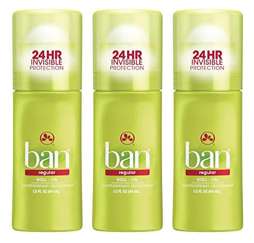 (Ban Roll-On Antiperspirant Deodorant, Regular, 1.5 Ounce (3 Pack))