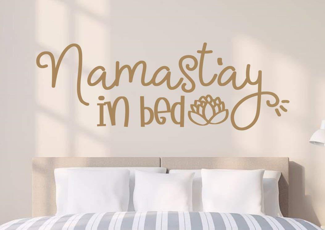 Amazon Com Littledollz Namastay In Bed Namastay In Bed Wall Decal