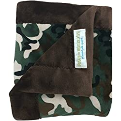"Paws For Humanity Woodland Creatures Camo Blanket for Dogs ~ Cuddly Small Double Thickness 26"" x 30"" ~ for Puppies, Toy Breeds, Dog Stroller, Carrier, Sling, Crate, Car and Lap ~ USA Made"