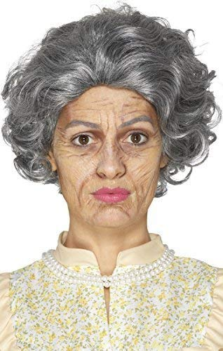 Ladies Mens Halloween Ageing Old Granny Bad Grandpa Latex Face Paints Special Effect Make Up Fancy Dress Costume Outfit Accessory Kit ()