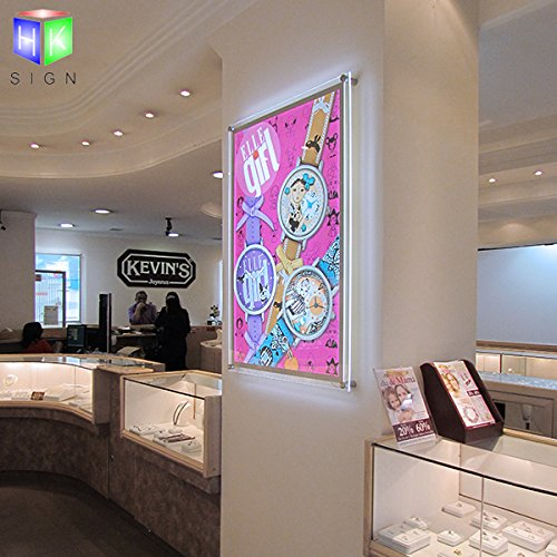 Acrylic Crystal Led Photo Frame Light Box For Office Store Sign Display With Wall Mounted by Haokang Sign