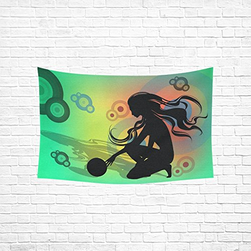 XINGCHENSS Rhythm Rhythmical Gymnastics Floor Exercises Girl Tapestry Abstract Painting Tapestry Wall Hanging Art For Living Room Bedroom Dorm Home Decor 60