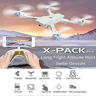 KNOSSOS Attop XT1 Plus FPV Foldable RC Drone with 1080P HD Camera ...