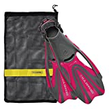 U.S. Divers Proflex FX Fin With Mesh Carrying Bag, Raspberry, Medium
