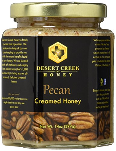 - Desert Creek Honey Pecan Creamed Honey, 14 oz