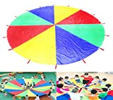 HANGQI(R) 3M Grande Lecture Colorful Parachute Enfants Enfants Jeu extérieur Exercice Sport Jouet