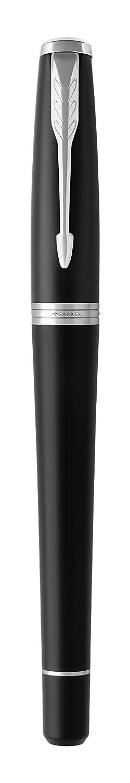 nero PARKER Urban penna a sfera 1931575 Muted Black punta media e ricarica di inchiostro blu con dettagli cromati