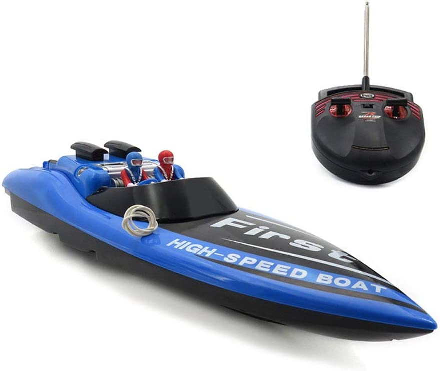 AIOJY Mini Simulation Submarine 4 Channels Wireless Remote Control Speedboat Waterproof Navigation Model Child Electric Ferry Fish Tank Toy Color Blue Color : Blue