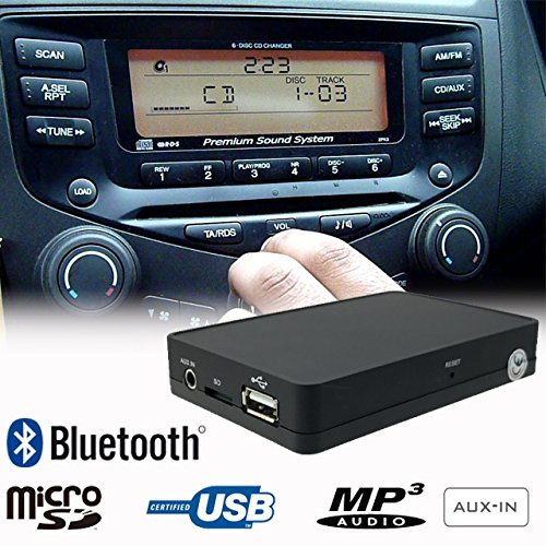 (Stereo Bluetooth Handsfree A2DP USB SD AUX MP3 WMA CD Changer Adapter Interface Car Kit Honda Accord Civic CRV CRZ FRV Insight Jazz Legend)