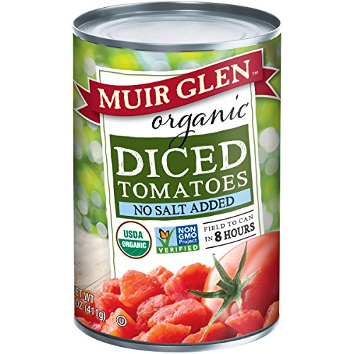 Muir Glen, Organic Diced Tomatoes, No Salt Added, 14.5 Ounce