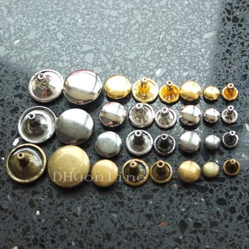Leather Rivets Set 1000 Sets Double Round Stud Cap 8mm Or 3/10'' Rivetbutton Leather Leathercraft Ws