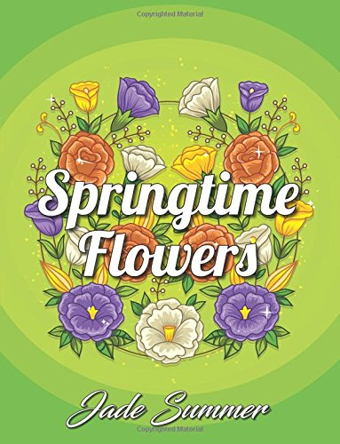 Springtime Flowers Coloring Beautiful Relaxing product image
