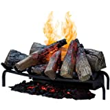 Dimplex DLGM29 Opti-Myst Open Hearth Fireplace Insert with Faux Logs Bed, Alabaster
