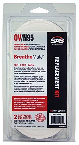 SAS Safety 300-1061 BreatheMate Organic Vapor Cartridge a...